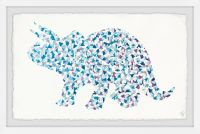 Marmont Hill Patterned Triceratops 24-Inch x 16-Inch Framed Wall Art