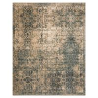Magnolia Home By Joanna Gaines Kennedy 7'10 Round Area Rug in Lagoon/Sand