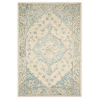 Magnolia Home by Joanna Gaines Ryeland 7'9 Round Handcrafted Area Rug in Ivory/Sky