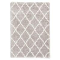 Jaipur Living Briscoe Trellis 7'10 x 10' Shag Area Rug in Light Grey/White