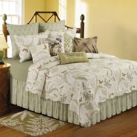 C&F Home™ Althea Reversible Twin Quilt in Green