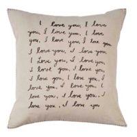 ED Ellen DeGeneres™ Tulare I Love You Square Pillow