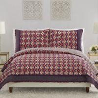 Vera Bradley® Water Geometric Reversible Full/Queen Quilt in Purple
