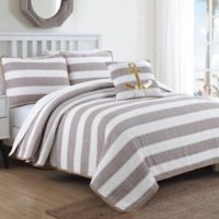 Hampton Full/Queen Quilt Set in Taupe