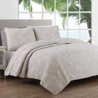 Estate Leaf Stitch II Twin Quilt Set