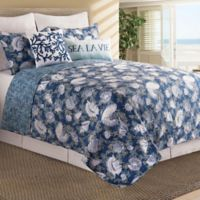 C&F Home™ Cape Coral Reversible Twin Quilt Set in Indigo