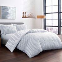 City Scene® Wilkinsin Stripe Full/Queen Duvet Set in Grey