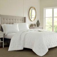 Laura Ashley® Eva King Quilt Set in White