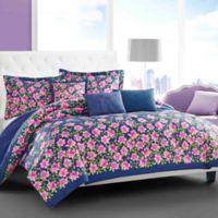 Betsey Johnson® Rose Garden Twin Comforter Bonus Set in Blue