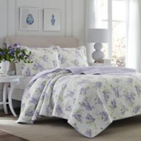 Laura Ashley® Keighley Full/Queen Quilt Set in Lilac