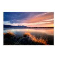 Sunrise Borax Pond 18-Inch x 24-Inch Multicolor Canvas Wall Art