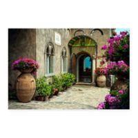 Hotel Villa Cimbrone Multicolor Canvas Wall Art