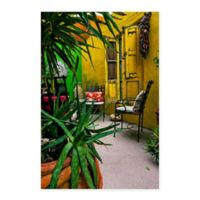 The Yellow Porch 18-Inch x 24-Inch Canvas Wall Art