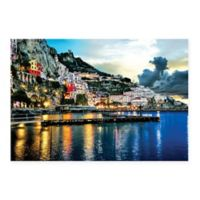 Amalfi At Night 27-Inch x 36-Inch Multicolor Canvas Wall Art