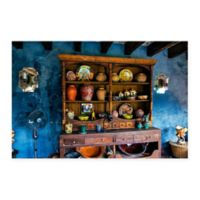 Old Buffet 18-Inch x 24-Inch Canvas Wall Art in Blue