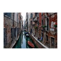 Men at Work Venice 24-Inch x 18-Inch Canvas Wall Art