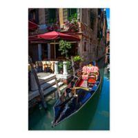 Gondola & Boat 18-Inch x 24-Inch Canvas Wall Art