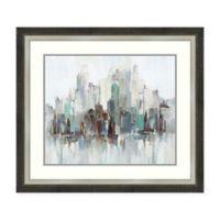 Amanti Art® Allison Pearce Cityscape Acrylic Framed Print in White/grey