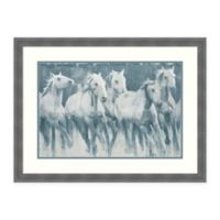Amanti Art® Stacy Daguiar Horses 32.25-Inch x 24.25-Inch Acrylic Framed Print in Grey/blue
