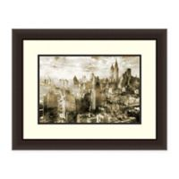 Amanti Art® Roozbeh Cityscape 27.62-Inch x 21.62-Inch Acrylic Framed Print in Brown
