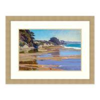 Amanti Art® Marcia Burtt Landscape 34.25-Inch x 26.25-Inch Acrylic Framed Print in Blue/brown