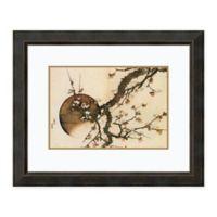 Amanti Art® Katsushika Hokusai Floral 32.38-Inch x 26.38-Inch Acrylic Framed Print in Brown/whit