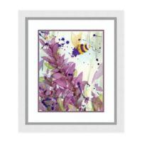 Amanti Art® Dawn Derman Floral 26-Inch x 30-Inch Acrylic Framed Print in Violet/white
