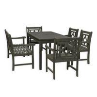 Vifah Renaissance 6-Piece Outdoor Dining Set in Vista Grey