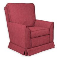 The 1st Chair™ Custom Taylor Swivel Glider in Red/Pink Fabrics