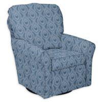 The 1st Chair™ Custom Shelby Swivel Glider in Blue Fabrics