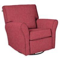 The 1st Chair™ Custom Jovi Swivel Gliding Recliner in Red/Pink Fabrics