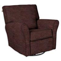 The 1st Chair™ Custom Jovi Swivel Gliding Recliner in Brown Fabrics