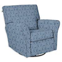 The 1st Chair™ Custom Jovi Swivel Gliding Recliner in Blue Fabrics