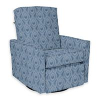 The 1st Chair™ Custom Keeton Swivel Gliding Recliner in Blue Fabrics