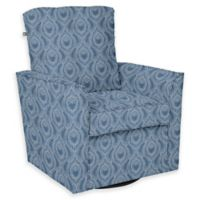 The 1st Chair™ Parker Swivel Glider in Blue Fabrics