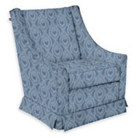 The 1st Chair™ Darcy Swivel Glider in Blue Fabrics
