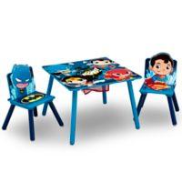 Delta Children DC Super Friends Kids Table and Chair Set with Storage