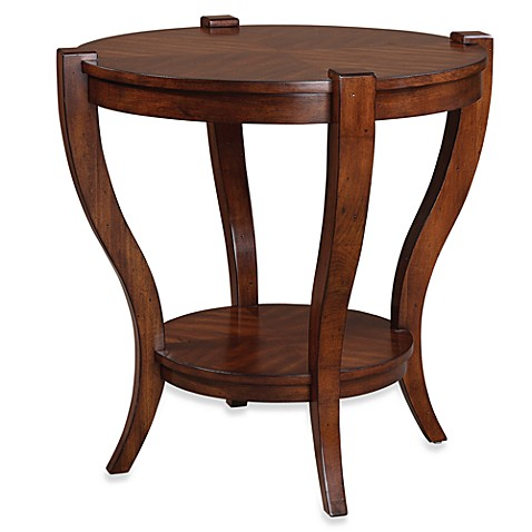 Uttermost Bergman Wood Round End Table Bed Bath Amp Beyond