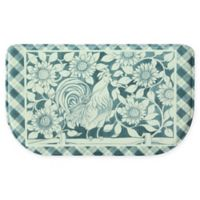 "Bacova Rooster Picnic 18"" x 30"" Memory Foam Slice Rug in Blue"