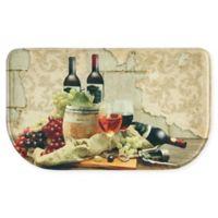 """Bacova Wine Friends 18"""" x 30"""" Memory Foam Kitchen Mat in Beige/Multi"""