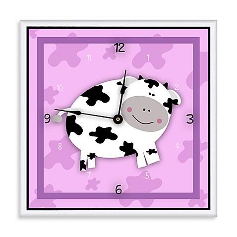 Green Leaf Art Happy Cow Decorative Art Clock Buybuy Baby