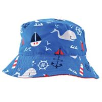 Addie & Tate Whale Bucket Hat in Red/Blue