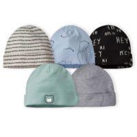 Gerber® Size 0-6M 5-Pack Bear Caps in Grey/Blue
