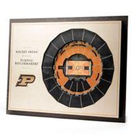Purdue University Basketball 5-Layer StadiumViews 3D Wall Art