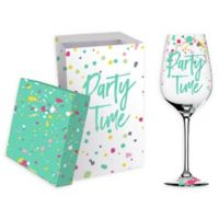 Evergreen Birthday Wine Glass with Box (Set of 2)