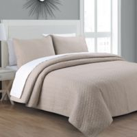 Estate Collection Tristan Twin Quilt Set in Taupe