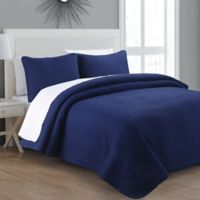 Estate Collection Tristan Twin Quilt Set in Navy