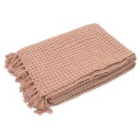 French Connection® Stonewash Throw Blanket in Blush