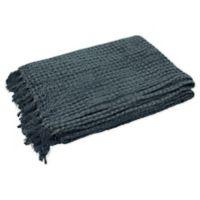 French Connection® Stonewash Throw Blanket in Dark Navy