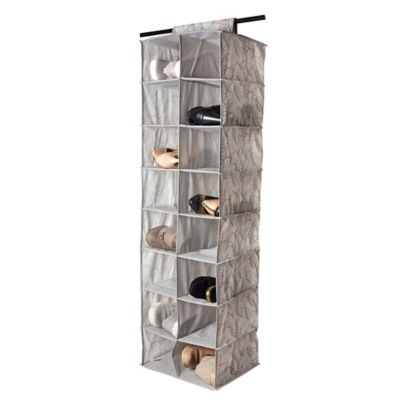 67d256dbc65c Laura Ashley® Hanging 16-Pocket Shoe Organizer in Silver